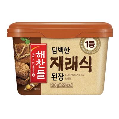 \厳選した大豆で真心を込めてじっくり漬けたこだわりのお味噌 いよいよ人気ブランド 送料無料でお届けします ヘチャンドル 在来式テンジャン 味噌 500g デンジャン 韓国食品マラソン ポイントアップ祭 韓国調味料 韓国料理 韓国食材