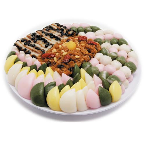 『韓国お餅』盛り合わせ餅セット(20.5cm×6cm・大)■詰め合わせお餅伝統餅 手作り餅 韓国料理 韓国食品 取り寄せ スーパーセール ポイントアップ祭