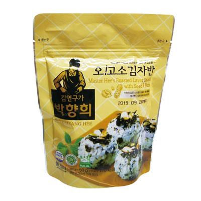 『パクヒャンヒ』ナッツ入りジャバンのり|味付けのりふりかけ(60g)岩海苔 韓国のり 韓国海苔 韓国食材 韓国食品\お父さんのおつまみに、ごはんを嫌がるお子様のおやつに/マラソン ポイントアップ祭