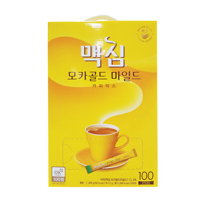 """""""East-West"""" Maxim Mocha gold coffee mix (100 packets) [Denso], [Maxim] instant coffee Korea coffee Korea beverage Korea drink Korea food [recommended]"""