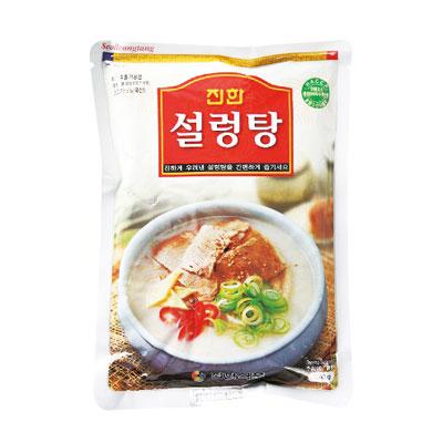 \ゲンコツと牛肉をじっくり煮込んだスープ/ 『眞漢』ソルロンタン(570g・辛さ0) ジンハン レトルト 韓国スープ 韓国鍋 韓国料理 チゲ鍋 韓国食品マラソン ポイントアップ祭