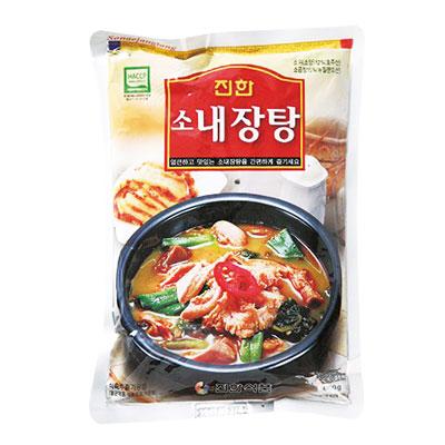 \高たんぱくの栄養スープ、ぴり辛でコクのある味/ 『眞漢』牛ネジャンタン(600g・辛さ2) ジンハン レトルト 韓国スープ 韓国鍋 韓国料理 チゲ鍋 韓国食品マラソン ポイントアップ祭