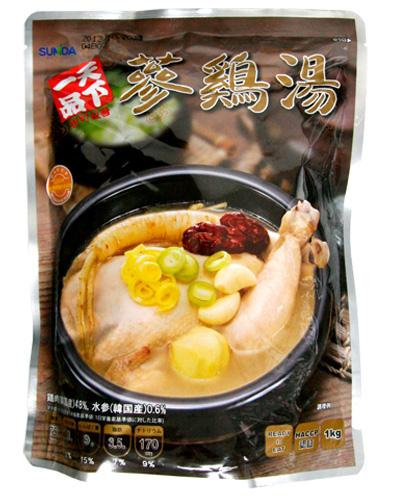 \栄養たっぷり健康フード鶏肉スープ!/ 『天下一品』参鶏湯 サムゲタン(1kg)レトルト お粥 韓国料理 韓国食材 韓国食品マラソン ポイントアップ祭