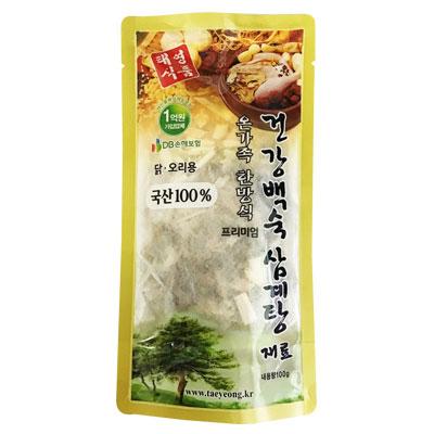 \韓国産100%材料、簡単調理で美味しいサムゲタン作り!/ 『テヨン食品』参鶏湯用漢方材料(100g・ティーパック、約3~4人前) 韓国産100%材料 サムゲタン サムゲタン材料 参鶏湯材料 韓国食材 韓国料理 韓国食品マラソン ポイントアップ祭