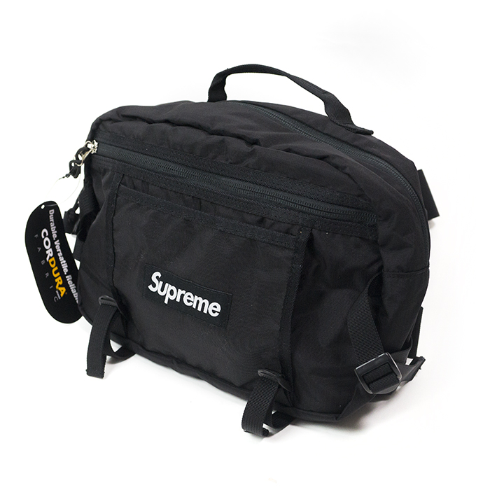 国内正规的物品Supreme/shupurimu Shoulder bag 210 Denier Cordura/shorudabaggukodeyura Black/黑色黑16SS新古董