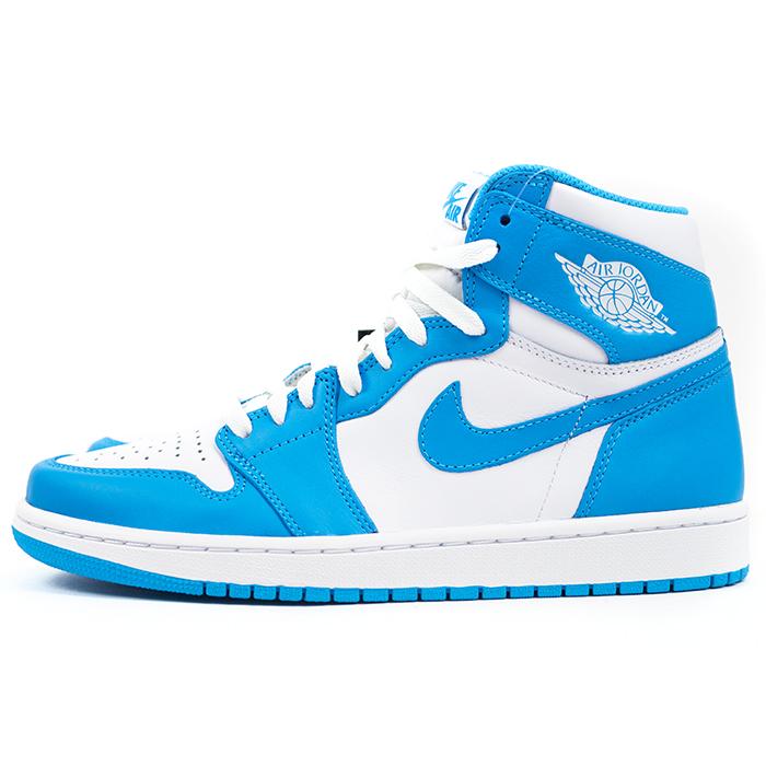 cf6ba923653 PALM NUT: NIKE Nike AIR JORDAN 1 RETRO HIGH OG Air Jordan retro UNC WHITE /  DARK POWDER BLUE / white North Carolina powder blue 555088-117 domestic  genuine ...