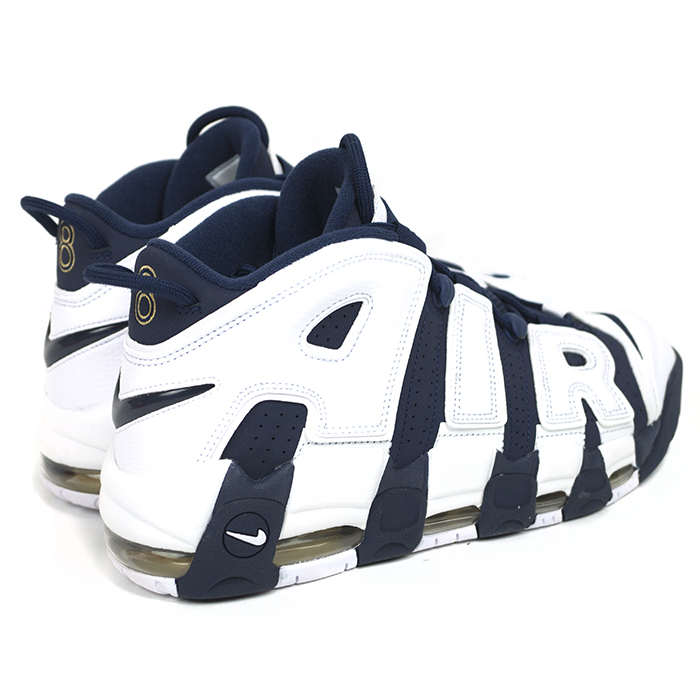 Overseas genuine NIKE AIR MORE UPTEMPO OLYMPIC Nike Air more uptempo Olympic WHITE/METALLIC GOLD/UNIVERSITY RED/MIDNIGHT NAVY / white / metallic gold / University red / Midnight Navy 414962-104 new old stock