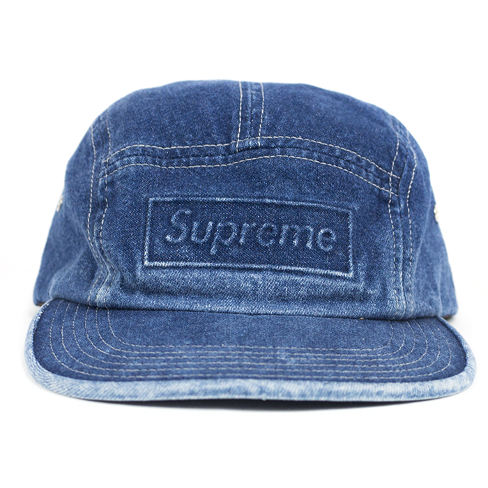 f12582e9c58 ... denim camp cap b5965 netherlands supreme supreme supreme embossed stone  washed camp cap embossed stone camp cap indigo indigo 2016 ...