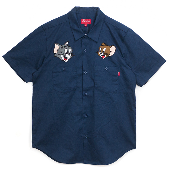 2017 Aw Supreme Tom Jerry Work Shirt
