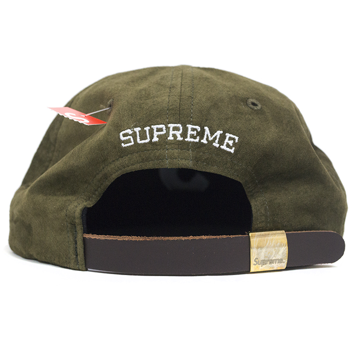 Supreme / Supreme Suede S Logo 6-Panel / suede S logo 6 Panel Cap Khaki Olive / Khaki olive 2016 AW FW domestic genuine tagged Nos new old stock
