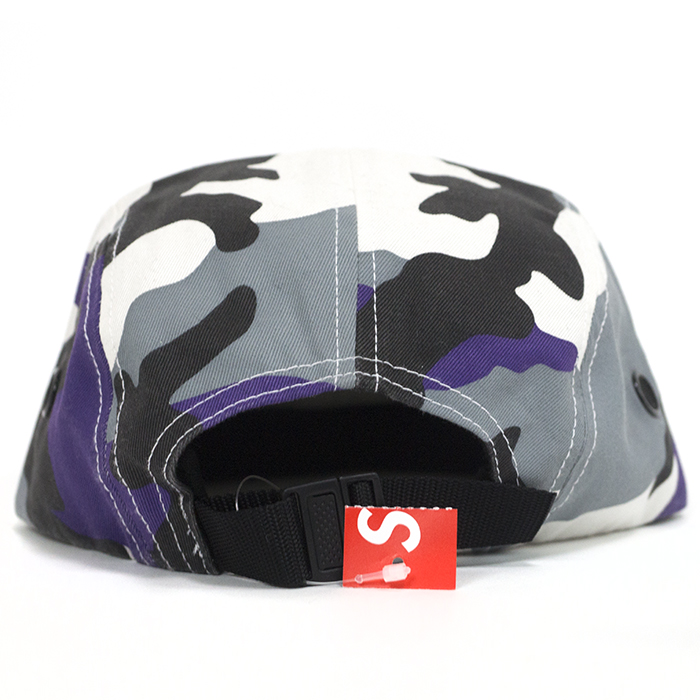 Supreme / Supreme Camp Cap Camo / Camo camp Cap Purple / Purple Purple camouflage 2016 AW FW domestic genuine tagged Nos new old stock