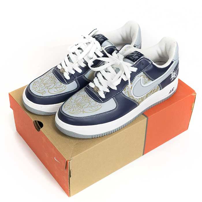 online retailer 50cbe 9879b Overseas genuine NIKE x Mr.CARTOON   Nike x Mr cartoon AIR FORCE 1 LA 03   air  force one Navy 312234-401 Nos new old stock