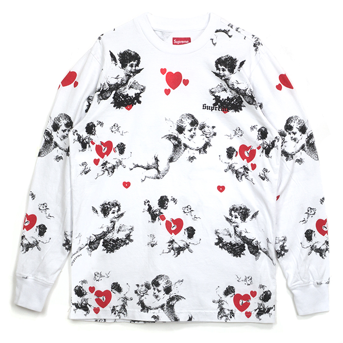 Supreme / シュプリーム Cherubs L/S Top / Che love Longus Reeve Ron T cherub angel White / white 2016AW regular article old and new things product