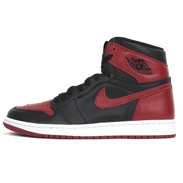 d6d6ed15204b6 Domestic regular article NIKE AIR JORDAN 1 RETRO OG BRED BANNED / Nike Air  Jordan 1 レトロブレッドバーンド BLACK/VARSITY RED-WHITE / black / bar city red - white  ...