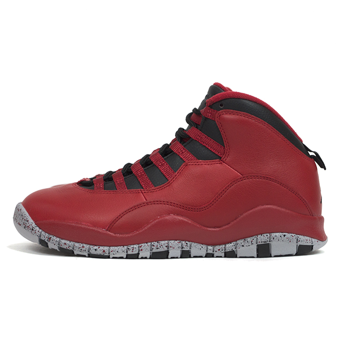 49ce426a37590c AIR JORDAN 10 RETRO BULLS OVER BROADWAY GYM RED BLACK-WOLF GREY   Nike ...