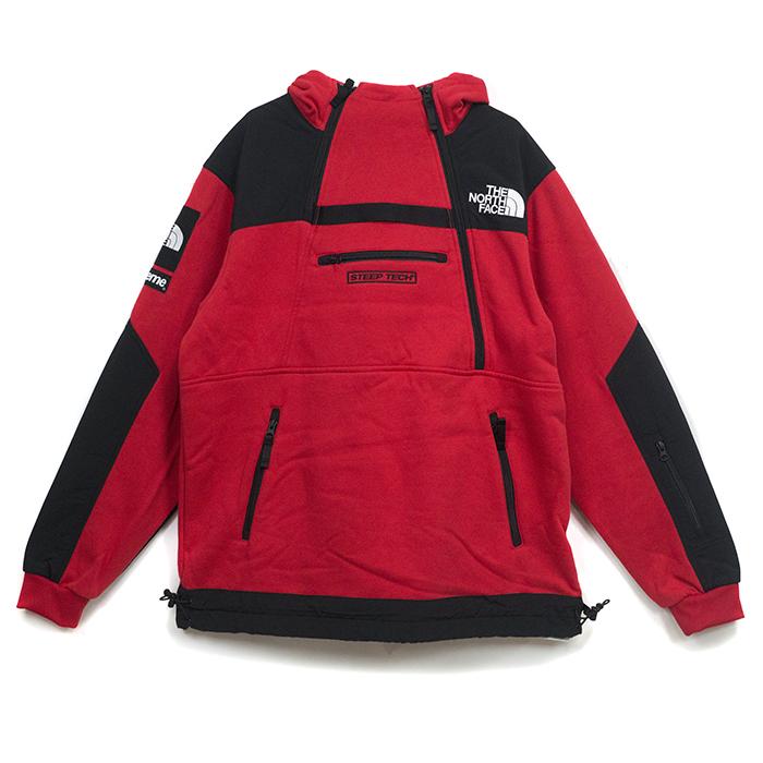 Supreme x The North Face / シュプリーム × ザ ノース フェイスSteep Tech Hooded Sweatshirt / スティープテック フーディ スウェット シャツ Red / レッド 赤 2016SS 国内正規品 タグ付き 新古品【中古】