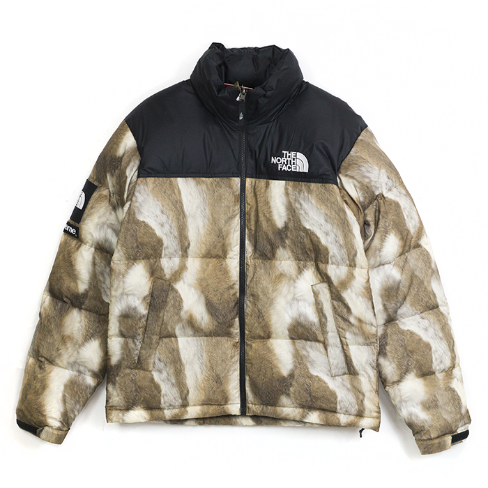 13AW Supreme × The North Face Nuptse Fur Print Down Jacket f673a400e