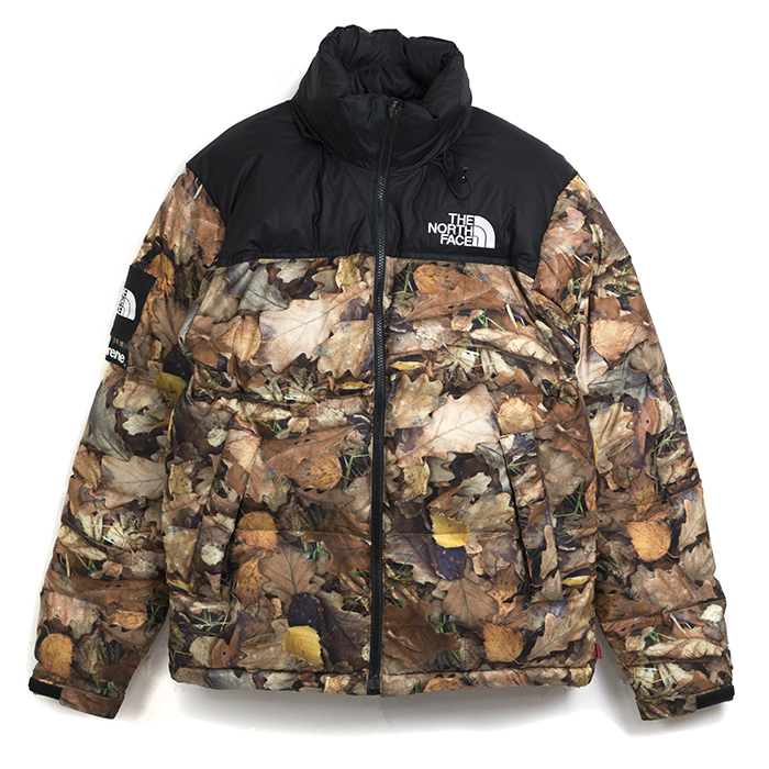 Supreme The North Face X Nuptse Jacket Down And Nubs Camo Leaves Duck Reeves Orange M Size 2017 Aw Fw Domestic Genuine