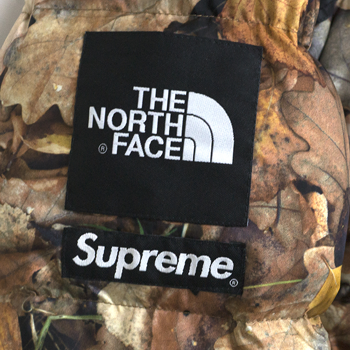 Supreme×the North Face / Supreme x north face Nuptse Jacket Down and nubs jacket down Camo Leaves and duck Reeves Orange M size 2016 AW FW domestic genuine new old stock
