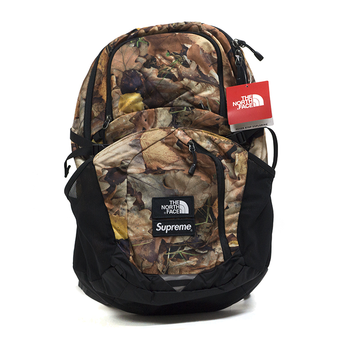 Supreme × The North Face / シュプリーム × ノースフェイスPocono Backpack / ポコノ バックパック Leaves / リーブス 枯葉 ブラウンTNF 2016AW FW 国内正規品 新古品【中古】