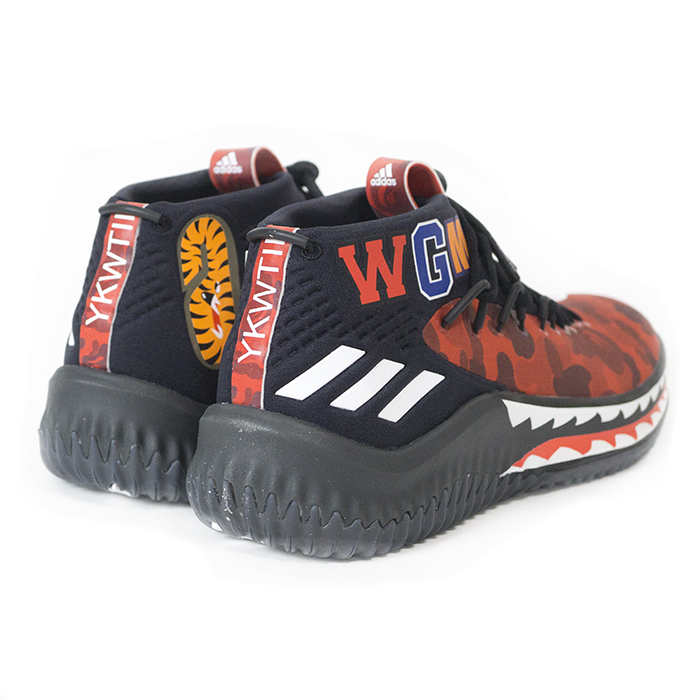 03800cfdd0a16e BAPE A BATHING APE X adidas   ベイプアベイシングエイプアディダス Damian Lillard 4 Dame 4    デイミアンリラード 4 Red Camo   red duck domestic regular article ...