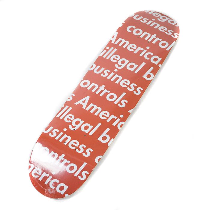 Supreme / シュプリームIllegal Business Skateboard / イリーガル ビジネス スケートボード デッキRED / レッド 赤2018SS 国内正規品 新古品【中古】