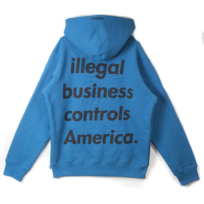 Supreme / シュプリームIllegal Business Hooded Sweatshirt / イリーガル ビジネス フーデッド スウェットシャツBlue / ブルー 青2018SS 国内正規品 新古品【中古】
