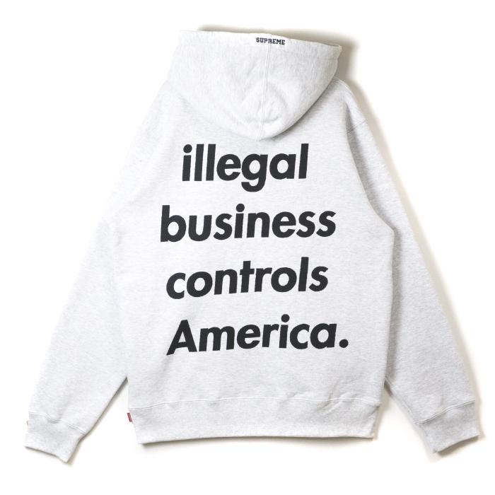 Supreme / シュプリームIllegal Business Hooded Sweatshirt / イリーガル ビジネス フーデッド スウェットシャツGrey / グレー 灰2018SS 国内正規品 新古品【中古】