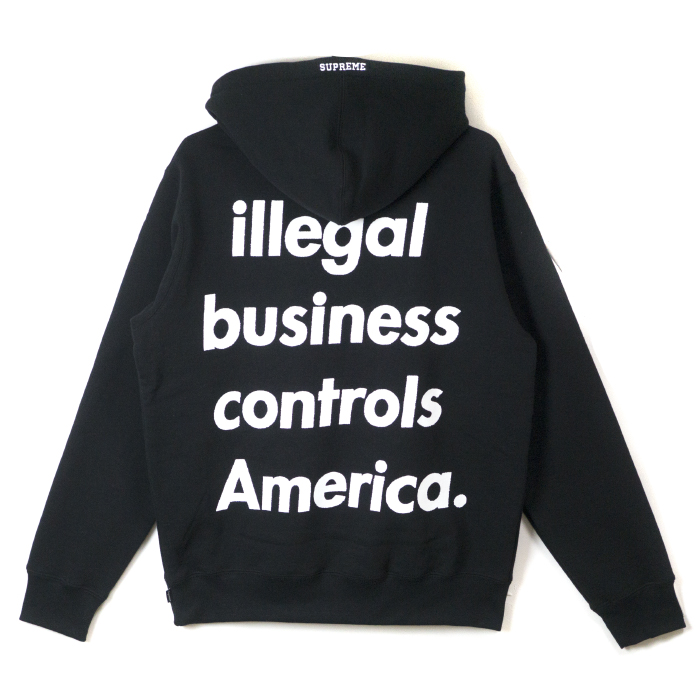 Supreme / シュプリーム Illegal Business Hooded Sweatshirt / illegal business  hooded sweat shirt Black / black black 2018SS domestic regular article old  and