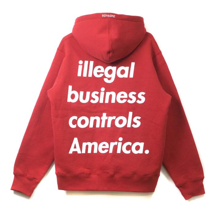 e3e488293cde Supreme  슈프림 Illegal Business Hooded Sweatshirt  위법 비즈니스 후 데드 스웨트 셔츠 Red   레드빨강 2018 SS국내 정규품 신고품