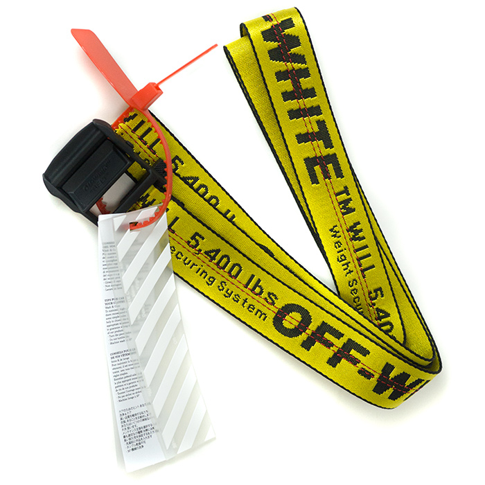 comprare popolare 525e0 52176 OFF-WHITE / off-white CINTURA INDUSTRIAL / Shin toe line dust rial waist  belt YELLOW / yellow yellow regular article old and new things product