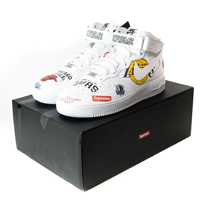 finest selection eb1b6 96a11 Supreme x NIKE x NBA / シュプリームナイキエヌビーエー Teams Air Force 1 Mid / team air  force one mid White / white white 2018SS domestic regular article old and  new ...