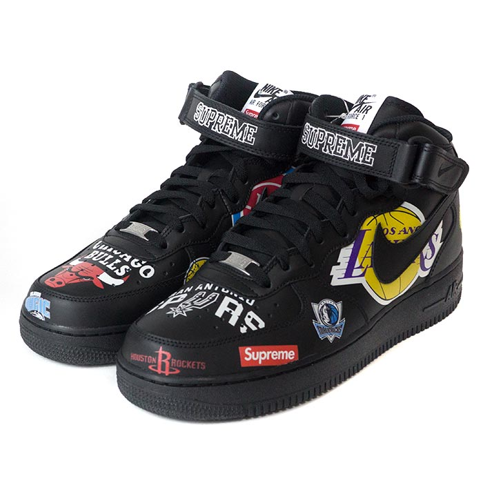 watch 7f8c1 cef83 Supreme x NIKE x NBA / シュプリームナイキエヌビーエー Teams Air Force 1 Mid / team air  force one mid Black / black black 2018SS domestic regular article old and  new ...