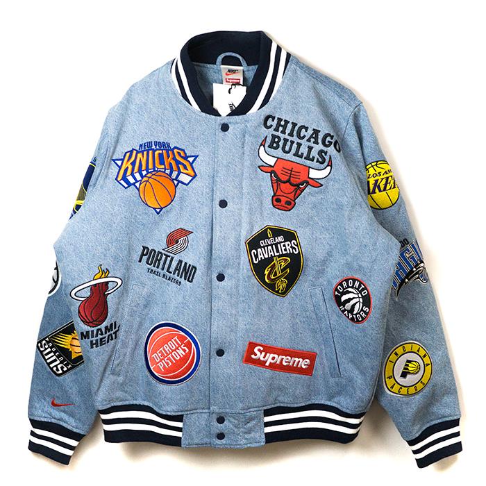Supreme x NIKE x NBA / シュプリーム ナイキ エヌビーエーTeams Warm-Up Jacket / チーム ウォームアップ ジャケットDenim / デニム2018SS 国内正規品 新古品【中古】