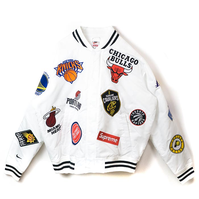 online store 13b3d 2cb5d Supreme x NIKE x NBA / シュプリームナイキエヌビーエー Teams Warm-Up Jacket / team warm-up  jacket White / white white 2018SS domestic regular article old and new ...