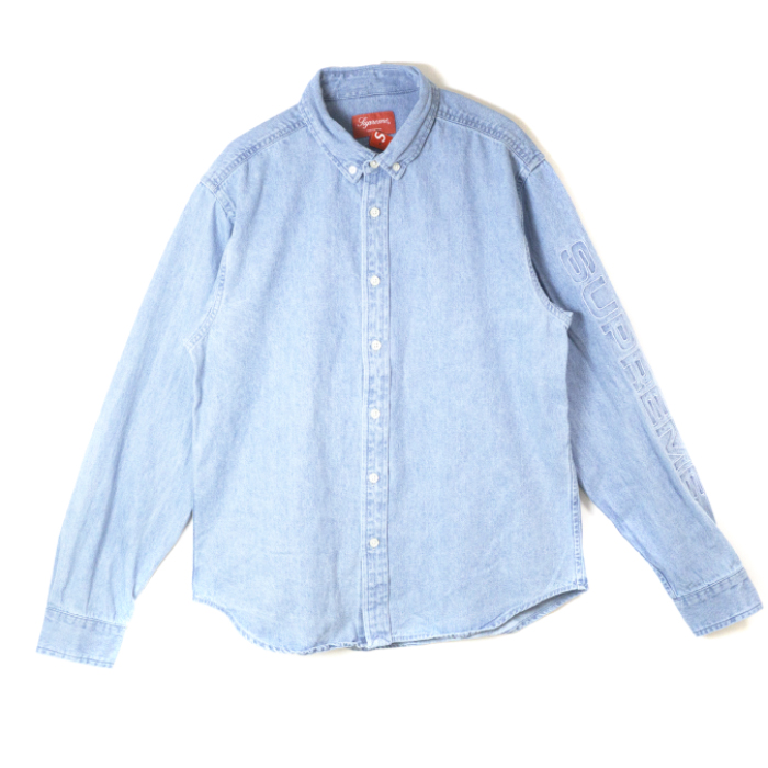 5ef7f825e4 Supreme   シュプリーム Denim Shirt   denim shirt Blue   blue blue 2018SS domestic  regular article old and new things product
