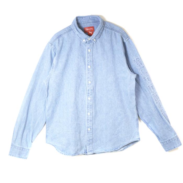 Supreme / シュプリーム Denim Shirt / デニム シャツBlue / ブルー 青2018SS 国内正規品 新古品【中古】