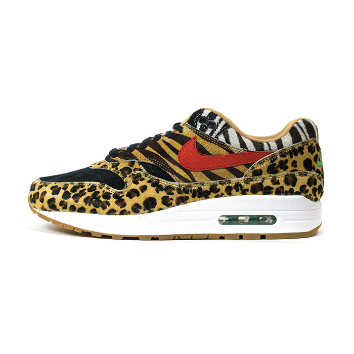 100% authentic b1c6e 12494 atmos X NIKE   atto- MOS Nike AIR MAX 1 DLX ANIMAL PACK   Air Max 1 deluxe  animal pack Wheat Bison-Classic Green-Sport Red   ウィートバイソンクラシック ...