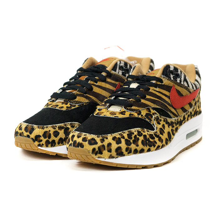 atmos X NIKE atto MOS Nike AIR MAX 1 DLX ANIMAL PACK Air Max 1 deluxe animal pack WheatBison Classic Green Sport Red ウィートバイソンクラシックグリーンスポーツレッド