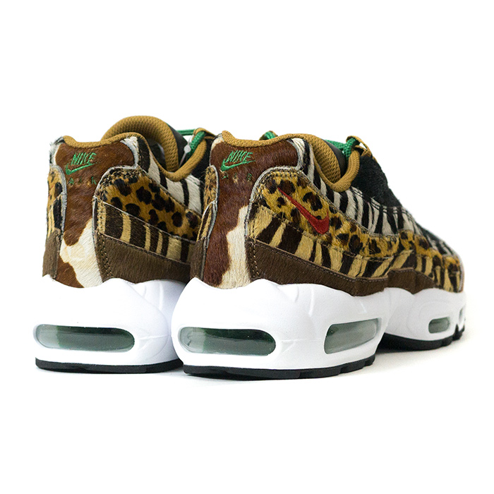 atmos X NIKE   atto- MOS Nike AIR MAX 95 DLX ANIMAL PACK   Air Max 95  deluxe animal pack Wheat Bison-Classic Green-Sport Red   ウィートバイソンクラシック ... a31d5689a