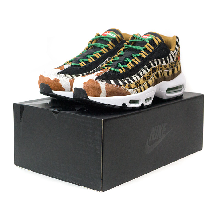best website a0897 731e7 atmos X NIKE / atto- MOS Nike AIR MAX 95 DLX ANIMAL PACK / Air Max 95  deluxe animal pack Wheat/Bison-Classic Green-Sport Red / ...