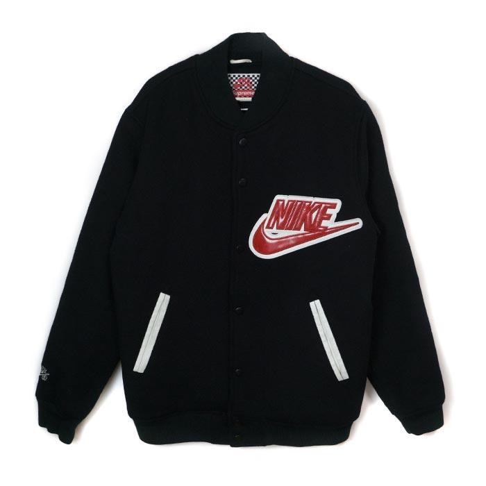 SUPREME x NIKE SB / シュプリームナイキ Wool Baseball Jacket / wool baseball jacket  Black / black black 2007AW regular article beauty used goods