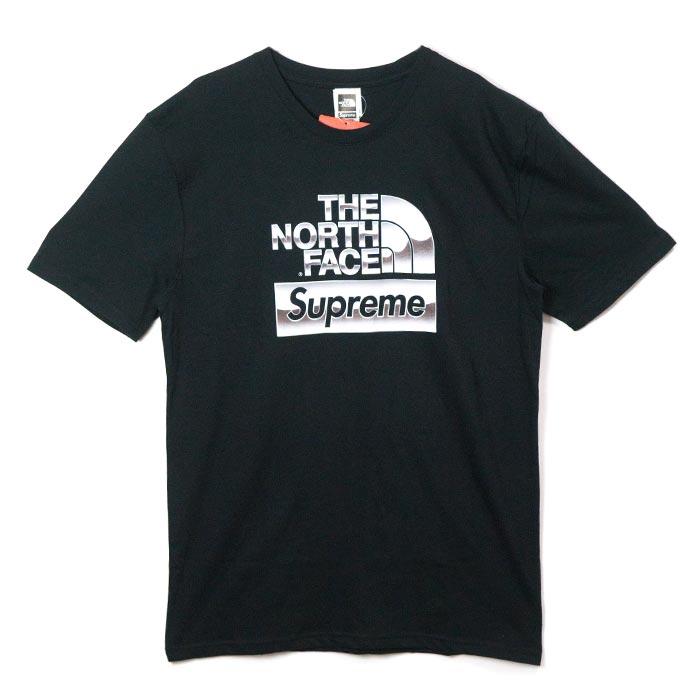 Supreme × The North Face /シュプリーム × ザ ノース フェイスMetallic Logo T-Shirt /メタリック ロゴ Tシャツ Black / ブラック 黒2018SS 国内正規品 新古品【中古】