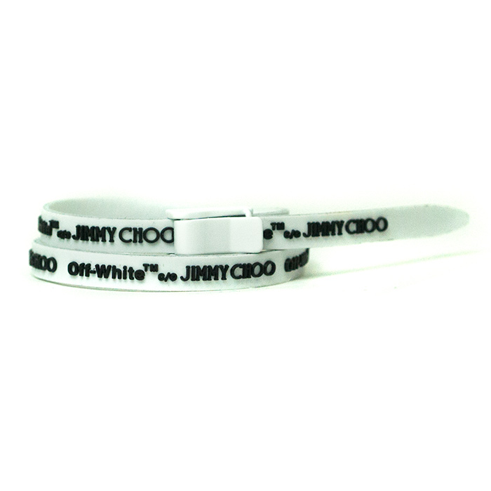 Off White C O Jimmy Choo Collection Zhu Constance Rubber Bracelet 2018ss Domestic