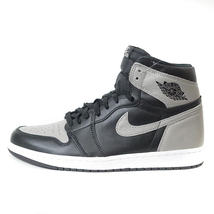 654d745c5d57a 2018 NIKE AIR JORDAN 1 RETRO HIGH OG SHADOW Black Medium Grey-White   555