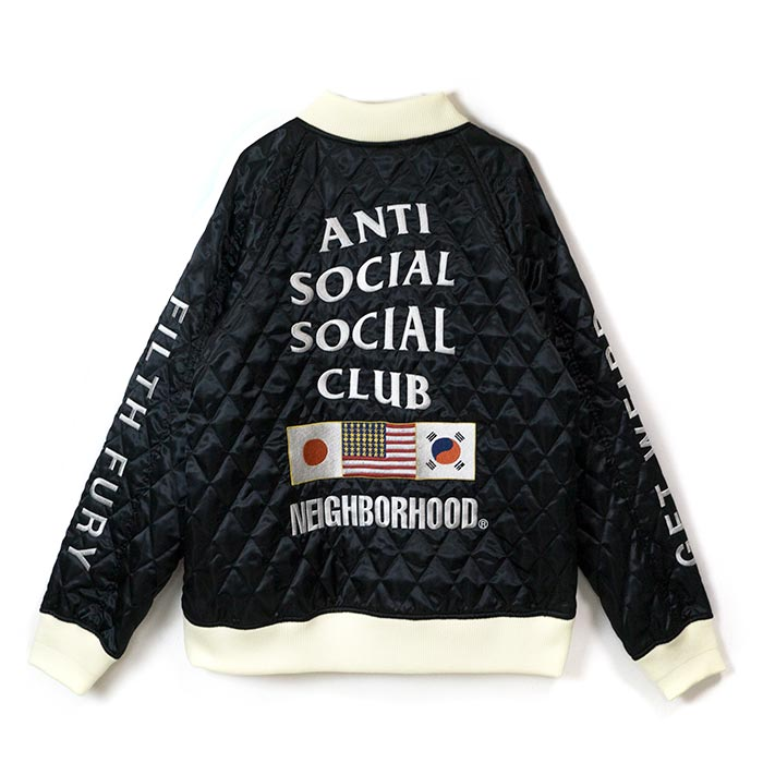 287717ecb PALM NUT: NEIGHBORHOOD x ANTI SOCIAL SOCIAL CLUB / Ney bar Hood antisocial  social club SOUVENIR E-JACKET / gift jacket Black / black black  Isetan-limited ...