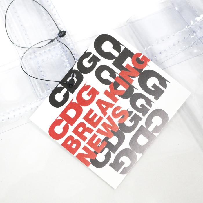 94c902eeb4d COMMEdesGARCONS コムデギャルソンCDGLOGOPVCVINYLTOTEBAG ロゴPVCビニールトートバッグ TRANSPARENT スケルトン透明2018SS国内