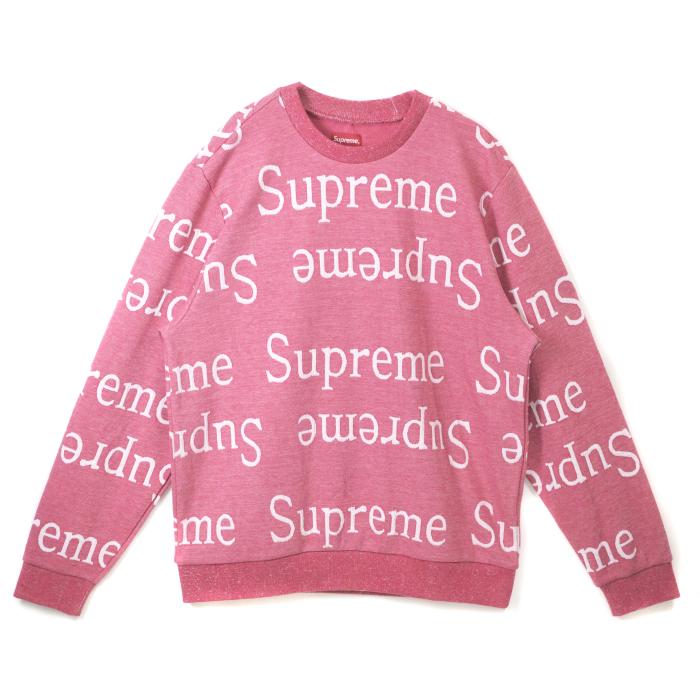 Supreme / シュプリームJacquard Logo Crewneck / ジャガード ロゴ クルーネックDark Pink / ダークピンク2018SS 国内正規品 新古品【中古】