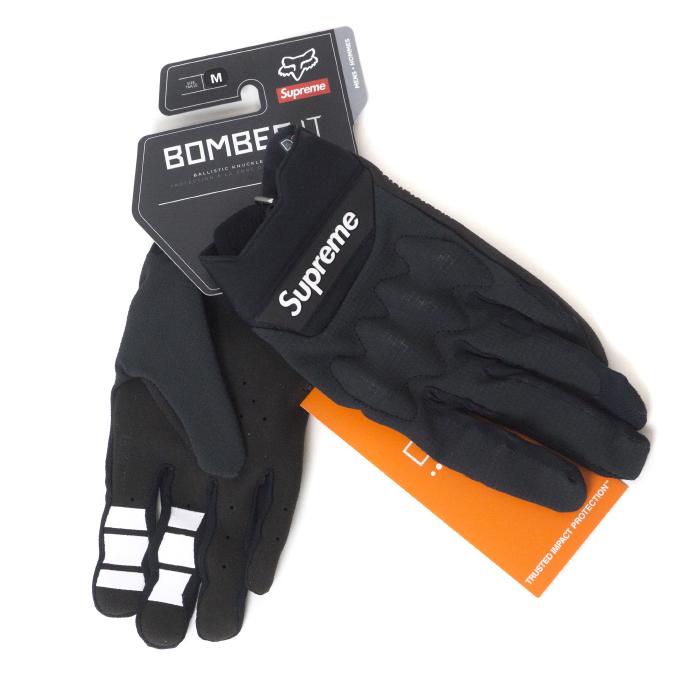 Supreme x Fox Racing / シュプリーム フォックス レーシングBomber LT Gloves / ボンバー グローブBlack / ブラック 黒2018SS 国内正規品 新古品【中古】