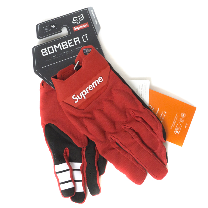 Supreme x Fox Racing / シュプリーム フォックス レーシングBomber LT Gloves / ボンバー グローブRed / レッド 赤2018SS 国内正規品 新古品【中古】